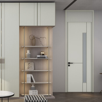 志邦木门 室内门卧室门套装门卫生间门厨房隔音房门定制柏林之声 ZBM-QS201P