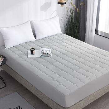 雅鹿·自由自在 床笠家纺 加厚夹棉床罩床单 防滑可水洗床垫套防滑床垫保护套 180*200*25cm 银灰
