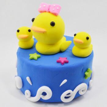 儿童diy创意彩泥超轻粘土手工制作蛋糕材料包玩具圣诞