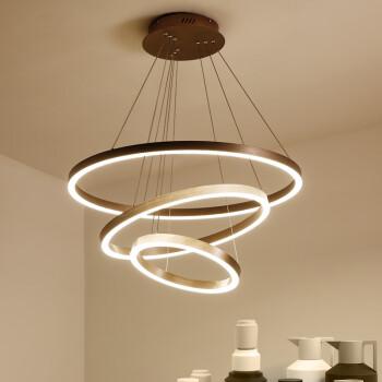 迪娜玛尼 DINAMANI KTD03  吊灯客厅灯创意艺术吊灯现代简约吊灯圆形led餐厅灯具   三层无极遥控