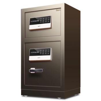 得力(deli)保险柜 高80cm双门双层电子密码保险箱 家用办公保管柜保密柜 镇山虎33033
