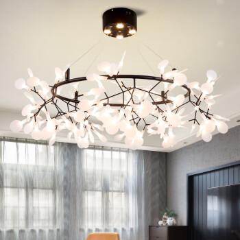 色诺芬照明 后现代简约客厅餐厅艺术吊灯咖啡厅北欧艺术创意个性树枝萤火虫灯 枝形63头-直径95cm-金色