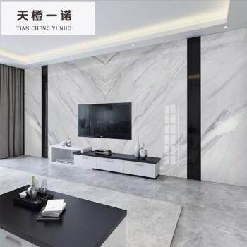 灰色现代简约大理石电视墙瓷砖背景墙瓷砖仿石纹客厅电视墙边框 水晶