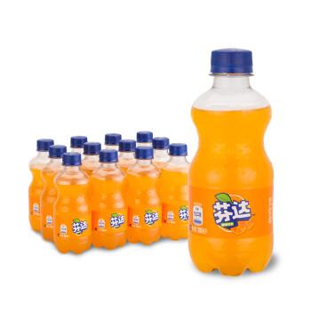 芬达 Fanta 橙味 汽水 碳酸饮料 300ml*12瓶 整箱装 可口可乐公司出品16.9