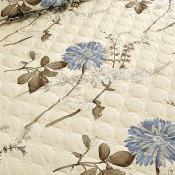 思家途 纯棉床笠单件 加厚夹棉全棉床罩席梦思床垫保护套三件套1.8米1.5m床垫套1.2 可配四件套 似水流年 1.5*