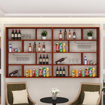 饭店吧台收银台柜台壁挂酒柜酒架餐厅宾馆超市吧台挂式酒柜组合 3米
