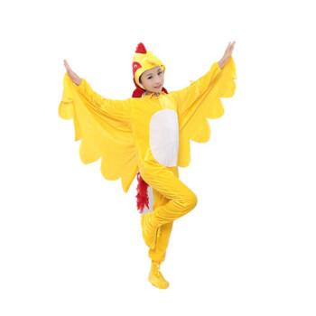 动物表演服装儿童小鸡也疯狂舞蹈演出服大公鸡母鸡亲子话剧服 母鸡