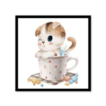 diy数字油画哆啦a梦卡通动漫儿童情侣手绘填色装饰画机器猫表情包