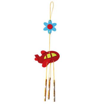 eva粘贴画创意风铃diy材料包儿童手工制作幼儿园子活动 布艺-风铃