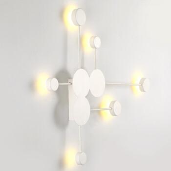 晨朵 北欧壁灯床头客厅卧室过道背景墙灯后现代极简艺术设计师装饰个性吸顶灯具 黑色6头