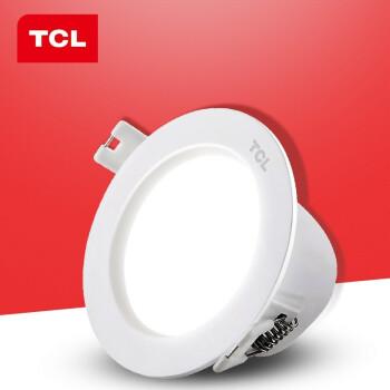 TCL 照明 led筒灯嵌入式天花灯3W高亮led灯过道嵌入式洞灯射灯【两件起售免邮】 特惠1只装 3瓦 漆白 7-8c