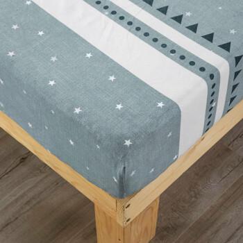 意尔嫚 床笠单件 透气床垫保护床单床罩 舒适印花单人亲肤床笠 180*200*25cm 星田