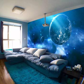 卡通星空背景墙装饰儿童房墙纸3d立体动漫银河主题壁画卧室墙壁纸 5款