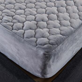 南极人NanJiren 床笠 加厚夹棉法兰绒床罩防滑床套 可水洗床单防尘罩席梦思床垫保护套 1.8米床