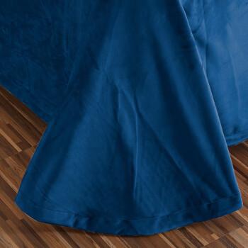 南极人home 加厚保暖绒床单秋冬薄毯加厚法兰绒床单纯色床单单件 宝蓝 190x235cm