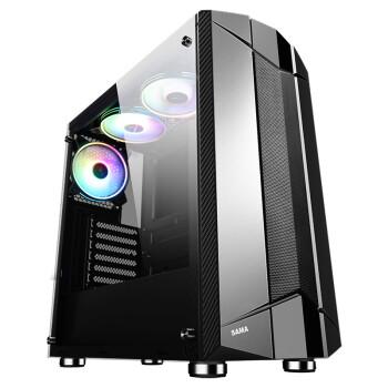 先马(SAMA)黑金刚3 中塔式ATX游戏电脑主机箱 钢化玻璃侧透/宽体五金/支持240水冷、长显卡、U3、背部走线