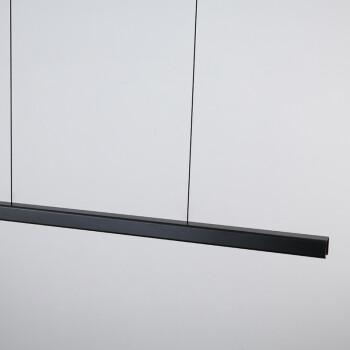餐厅鱼线吊灯 极简吊灯现代简约餐厅餐桌吧台灯办公室创意长条设计师LED餐吊灯 1.5米+黑色+无极调光