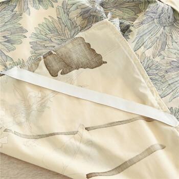 北极绒 全棉床裙加厚床罩 纯棉床单床垫套 防滑床垫保护套被单 似水流年 1.8米床 180*200cm