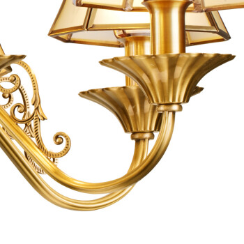 欧普照明(OPPLE)LED吊灯美式复古餐厅客厅卧室装饰铜吊灯创意个性吊灯 罗马假日8头  E14光源另购