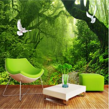 风景壁纸3d墙纸田园大自然森林立体画卧室沙发客厅电视背景墙壁画