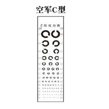宝宝幼儿园眼力墙贴防水测视力表挂图标准3d电子儿童身高测量 c型表一