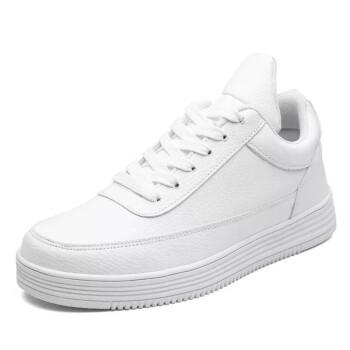 明星同款秋季增高男鞋10cm8cm隐形内增高6cm小白鞋韩版百搭板鞋运动鞋 白色增高10cm 39