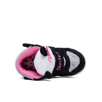 【预售】Skechers斯凯奇女童鞋 立体动物头儿童靴子 秋冬新款雪地靴 黑色/粉红色/BKPK 24码/鞋内长14cm