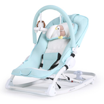 Morning Hui (CHBABY) baby rocking chair Baby coax sleep coax Oracle electric Cradle Children soothing rocking chair Newborn Multifunctional Shaker A604A enlarged version of light blue