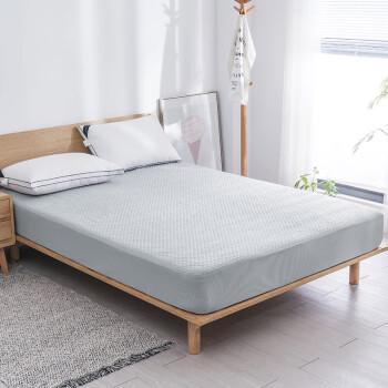 京造 四季防水床垫保护套 床笠 床褥  180x200cm  1.8m床 灰色