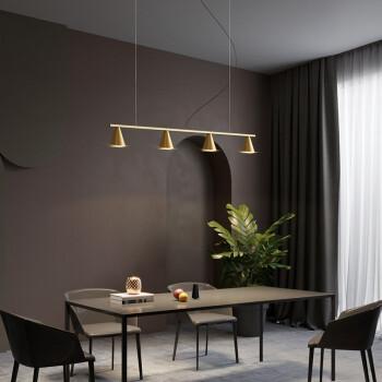 斯帝罗兰 北欧鱼线全铜餐厅吊灯 创意个性LED铜吊灯 现代简约饭桌吊灯 黑色-5头