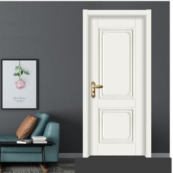 室内门卧室门套装门生态烤漆木门实木复合门房间门现代简约房门免漆 象牙白