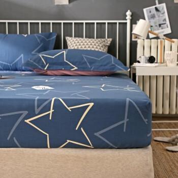南极人家纺 床笠单件 纯棉床单床罩1.8米床可以配全棉四件套 1.5m防滑床单加厚加高薄款床垫保护套 闪亮之星 150*