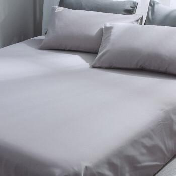 迎馨家纺 床单家纺 磨毛单人床单 床单单件床上用品床罩单件 1.2/1.5米床 浅灰 180*230cm