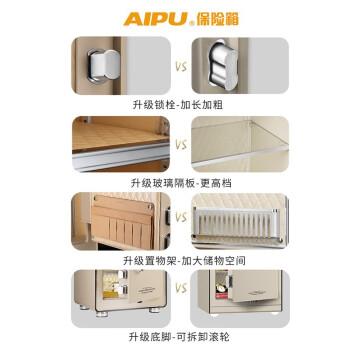 艾谱(AIPU)指纹保险箱3c认证家用小型办公密码保险柜 灵智升级版30-95LZII 55LZ金色