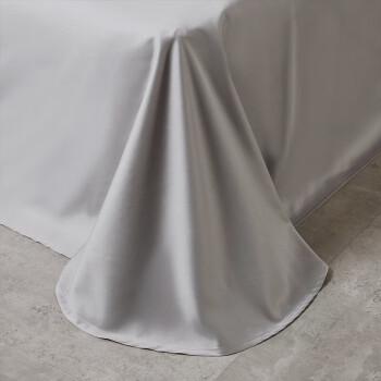 雅鹿·自由自在 床单 床单单件纯色活性印花亲肤被单单件 180*230cm 浅灰
