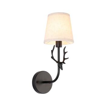 美式轻奢壁灯创意个性客厅背景墙卧室床头灯镜前灯简约鹿角灯 沙金款