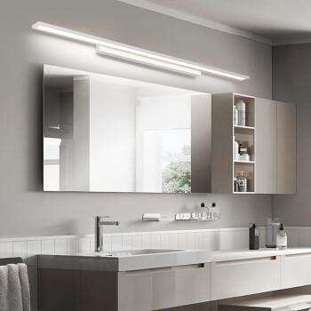 镜前灯 卫生间led现代简约梳妆化妆灯浴室厕所北欧防水防雾镜柜灯 40*4*9cm白光8W