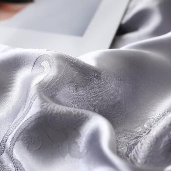 南极人NanJiren 桑蚕丝被 贡缎提花双人秋冬被子 冬季空调被春秋被芯被褥 200*230cm 5斤