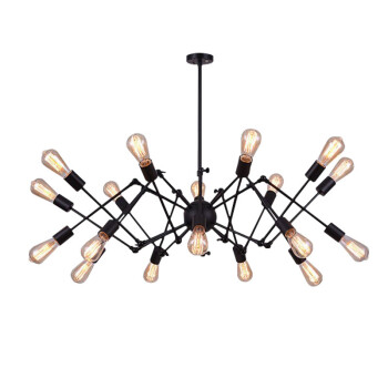 蜘蛛吊灯北欧复古工业风铁艺枝形吊灯爱迪生网吧茶餐厅咖啡厅 8头 4瓦爱迪生LED灯泡