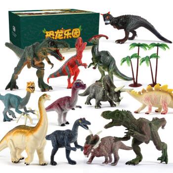 勾勾手 恐龙玩具仿真模型野生动物套装 12只装 *2件