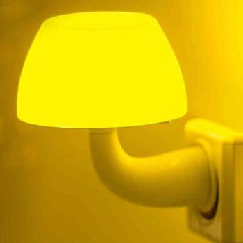 银之优品 led小夜灯插电遥控带开关 婴儿喂奶灯楼道玄关走廊卧室床头壁灯氛围夜光灯