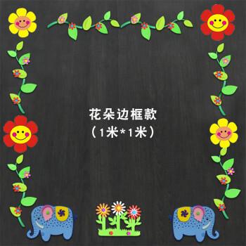 幼儿园教室板报边框冬天装饰班级文化墙区角创意圣诞新年墙贴画 笑脸