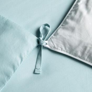 LOVO家纺 罗莱生活出品四件套60支高支高密纯棉全棉床上用品 吉尔吉特(床笠款)(绿) 1.8米床(被套220x240