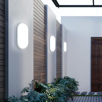 壁灯户外防水阳台走廊过道楼梯洗手间浴室墙壁灯LED室外庭院壁灯 圆形小号-15W
