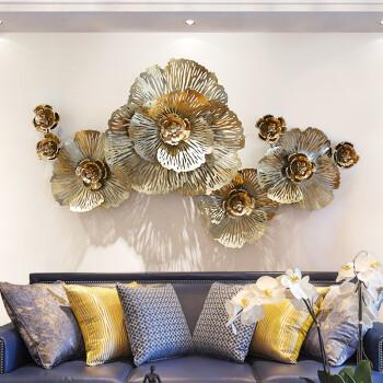 室内(Snnei)欧式电视沙发背景墙装饰画 创意铁艺壁饰 家居客厅软装饰品 黄金缕A款
