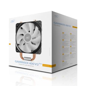 九州风神(DEEPCOOL) 玄冰400 CPU散热器(多平台/支持AM4/4热管/智能温控/发蓝光/12CM风扇/附带