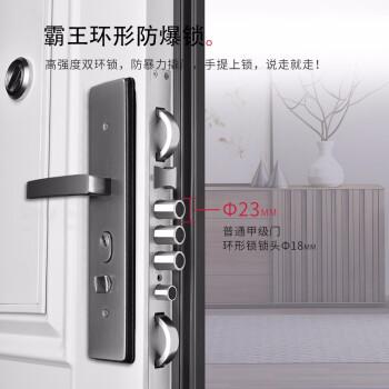 神将甲级防盗门进户安全门家用入户门指纹锁子母门通风门威尼斯 机械锁 2050*950外开单门+内外双色