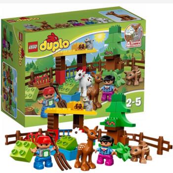 乐高lego得宝系列益智早教拼插积木玩具大颗粒森林小动物10582