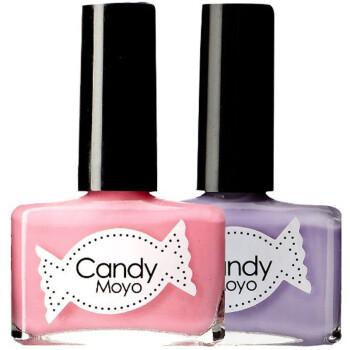 膜玉(Candymoyo)指甲油甜蜜薰衣草2件套组(草莓布丁粉嫩色8ml+果冻透紫色8ml)