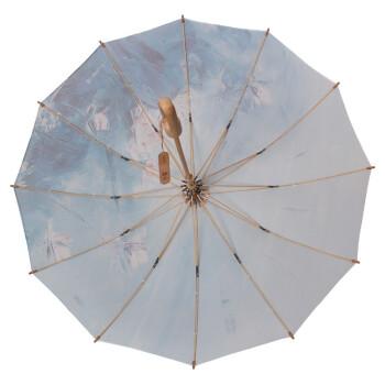环保纯手工制作陈岚画家创意限量版加大加固超强防紫外线直杆晴雨伞